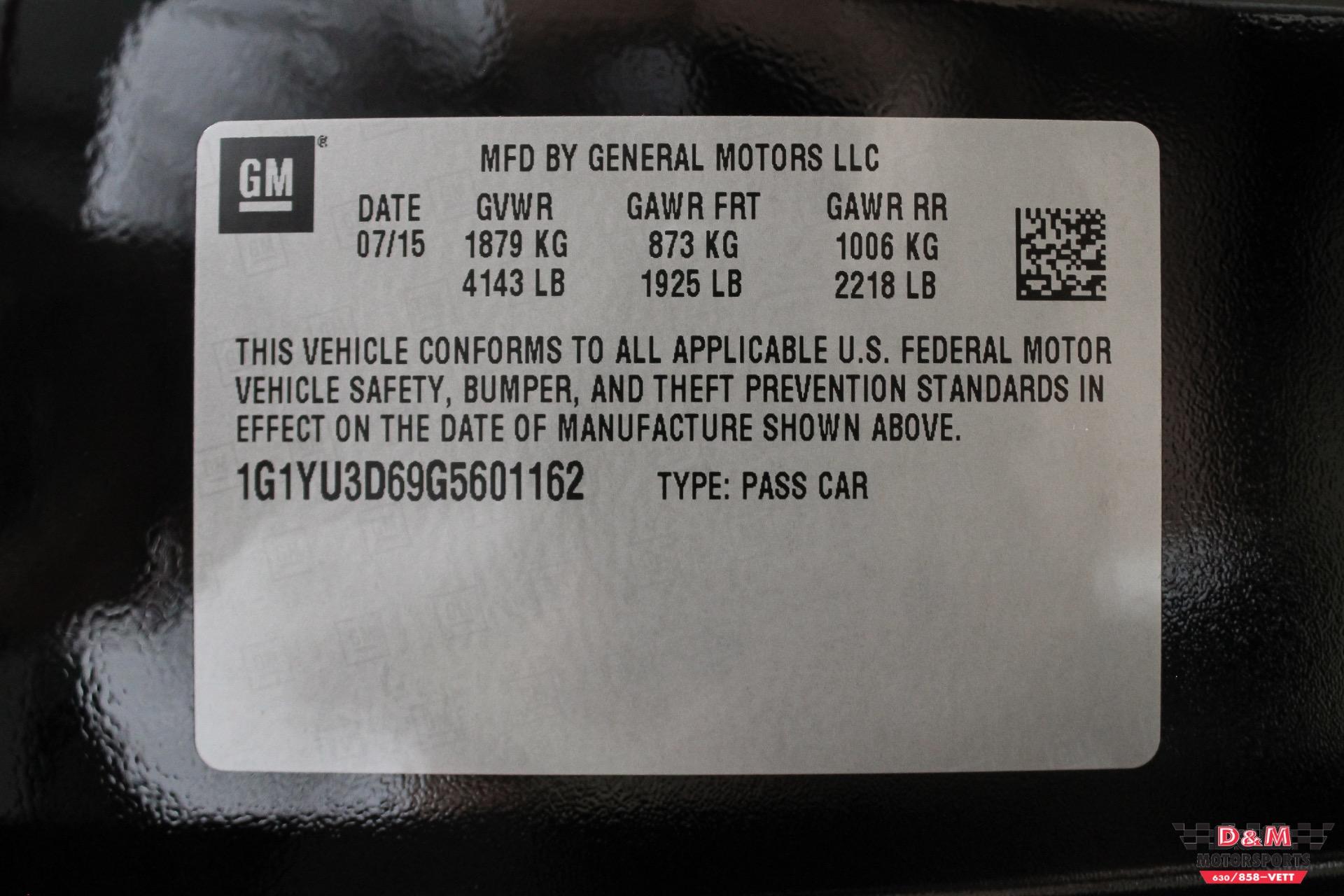 Used 2016 Chevrolet Corvette Z06 Convertible | Glen Ellyn, IL