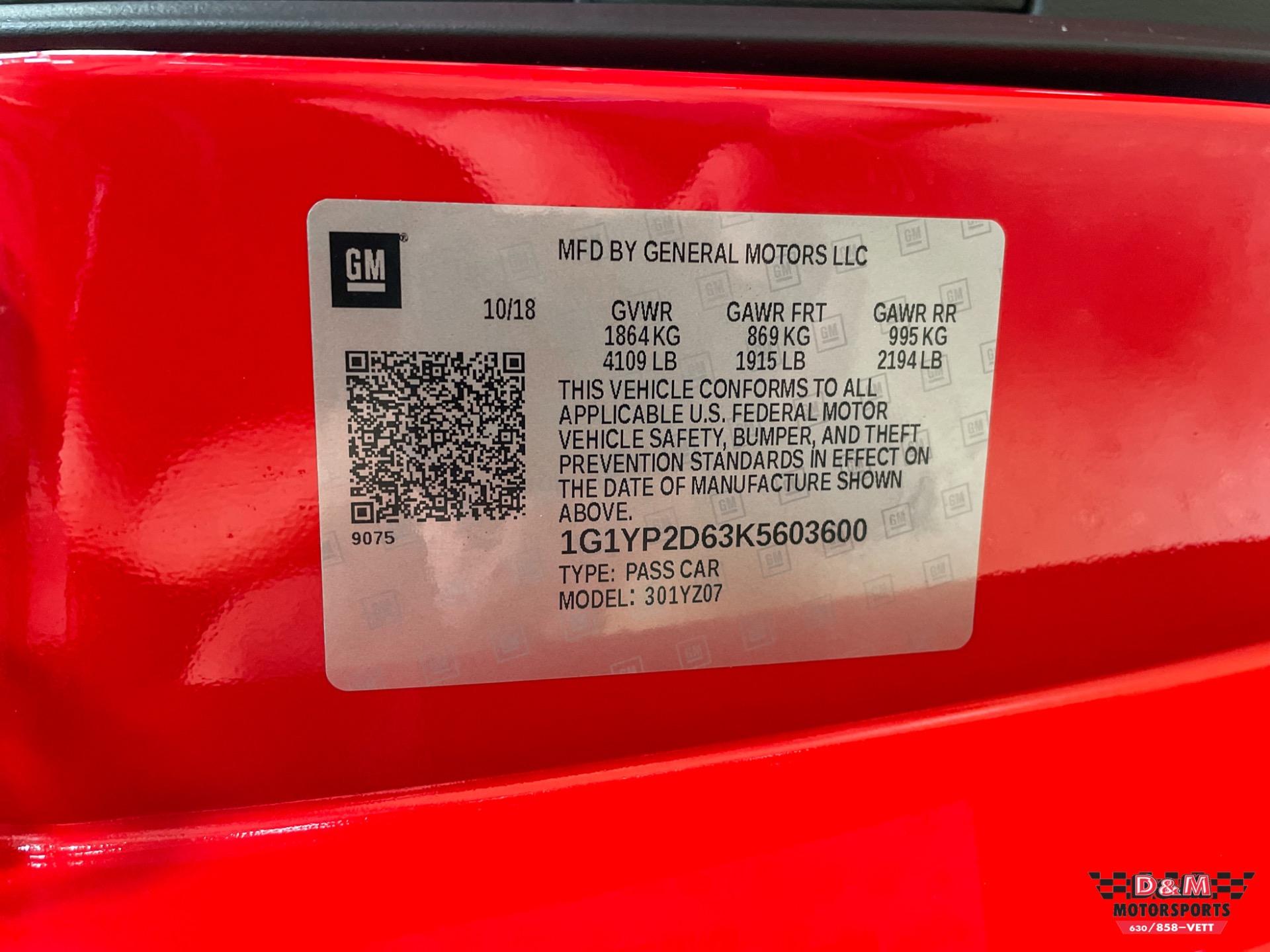 Used 2019 Chevrolet Corvette Z06 Coupe | Glen Ellyn, IL