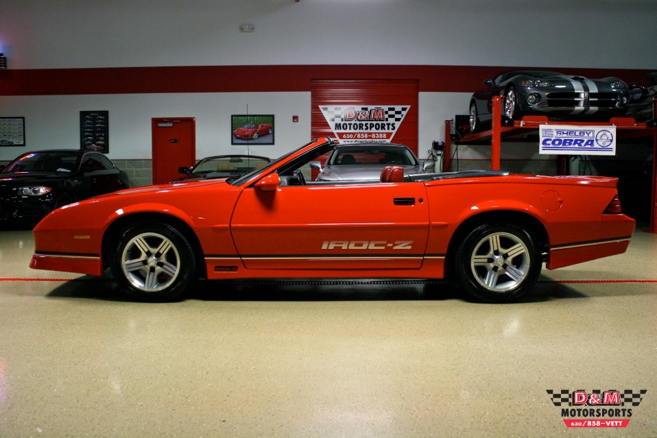 1990 chevrolet camaro iroc z convertible stock m5364 for sale near glen ellyn il il chevrolet dealer 1990 chevrolet camaro iroc z