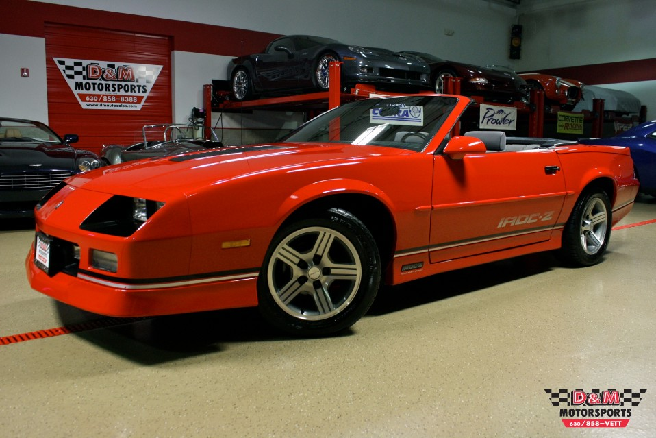 1989 Chevrolet Camaro Iroc Z For Sale: 1989 Chevrolet Camaro IROC Z Convertible Stock # M5409 For
